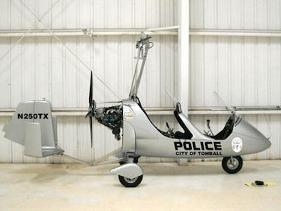 Gyroplane Used In Law Enforcement